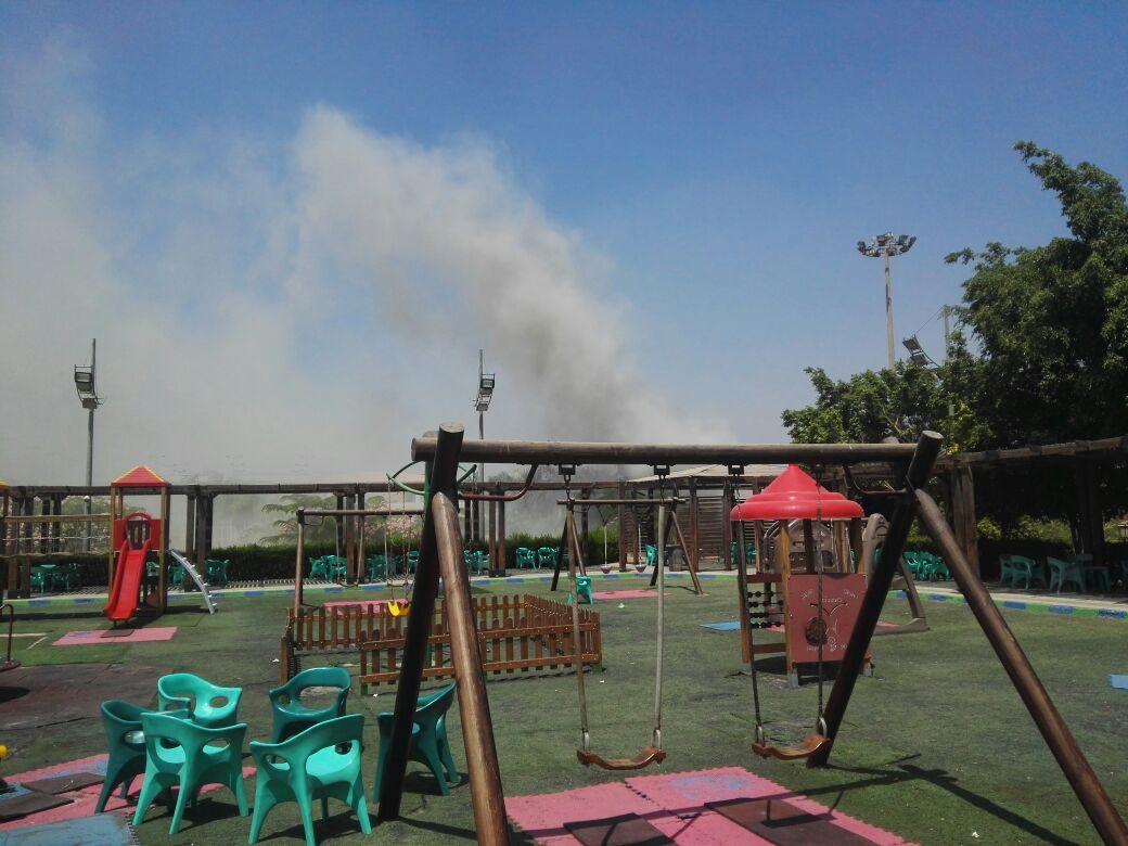 حريق فى نادى بتروسبورت
