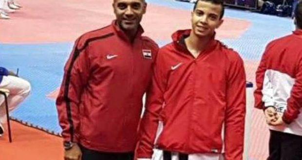 محمد فرج لاعب المنتخب المصرى للتايكوندو 2017