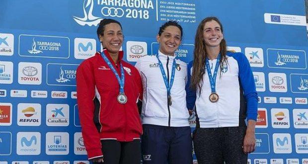 فريدة عثمان فى دورة ألعاب البحر المتوسط