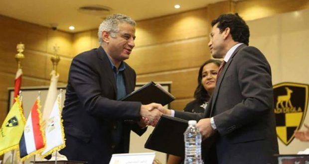 رئيس شركة أندية وادى دجلة ووزير الرياضة أشرف صبحى