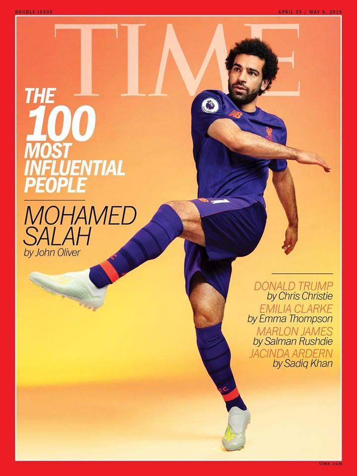 محمد صلاح من أكثر 100 شخصية مؤثرة في العالم