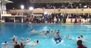 مشاجرة الاهلي والجزيرة في نهائي دوري كرة الماء