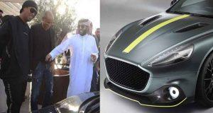 رونالدينهو يشتري السيارة Aston Martin Amr Rapide من مزاد موسم الرياض للسيارات