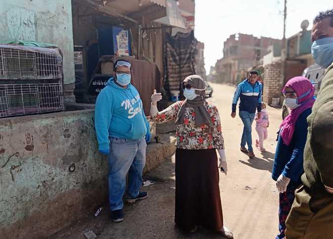 اعمال تطهير قرية في بني سويف