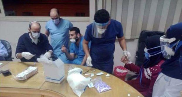 التحليل لأعضاء الفريق الطبي بمستشفي بنها الجامعي