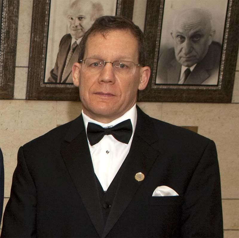 تشارلز ليبر في حفل توزيع الجوائز في القدس عام 2012
