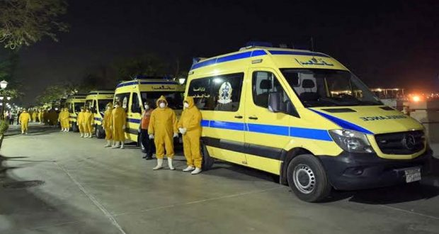 سيارات إسعاف نقل مصابي فيروس كورونا
