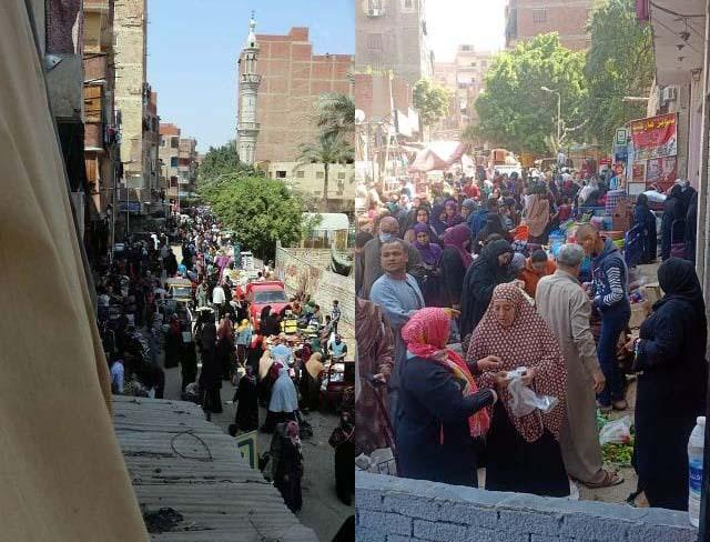 صور من سوق التلات في حي المرج بتاريخ 7 إبريل 2020