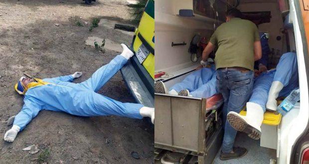 مسعفين نقل حالت فيروس كورونا