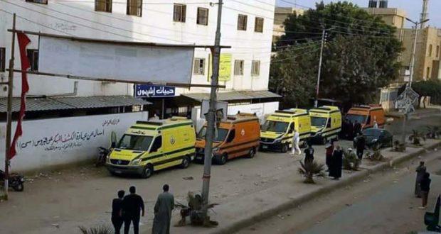 نقل حالات فيروس كورونا من مستشفي حميات أشمون المنوفية