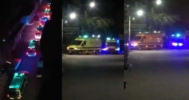 نقل مصابي فيروس كورونا في بني سويف