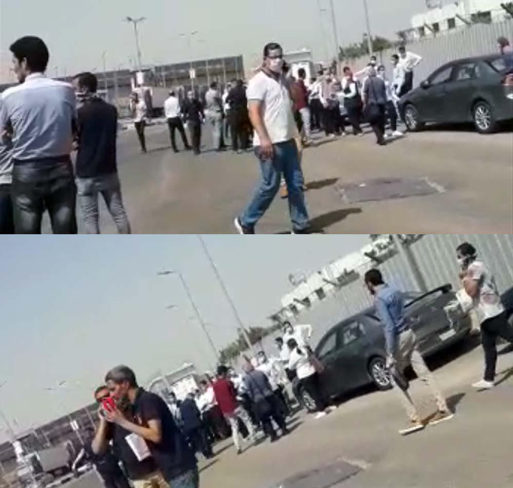 إضراب العاملين بالمركز اللوجستي بمطار القاهرة