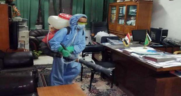 تطهير مكتب نائبة محافظ القليوبية