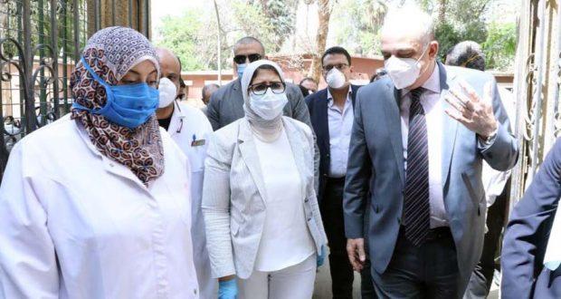 وزيرة الصحة تتابع مستشفيات الصدر والحميات لتجهيزها لعزل مصابي فيروس كورونا