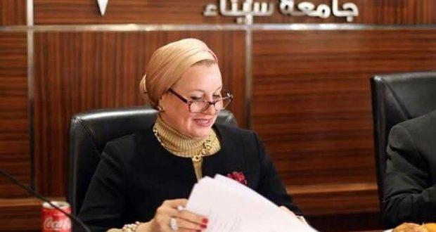 الدكتورة هالة عثمان المسلمى، عميد صيدلة القنطرة جامعة سيناء