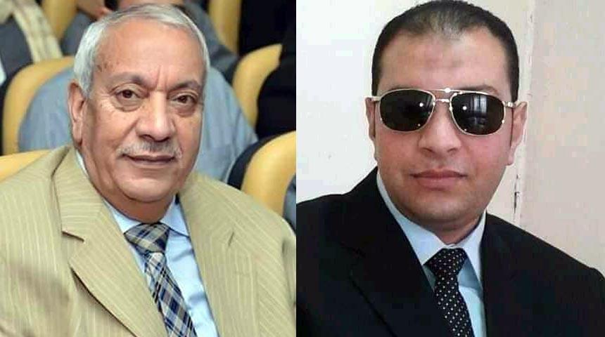 الدكتور حامد عبده سعد الفقي ونجله المستشار محمد حامد