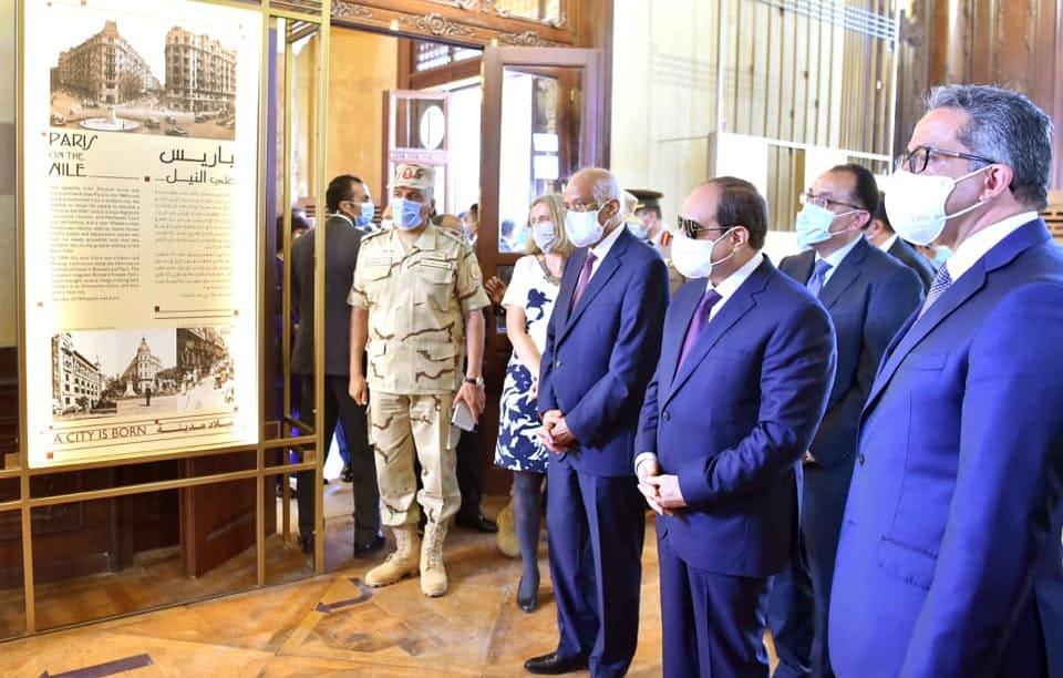 الرئيس عبدالفتاح السيسي يفتتح قصر البارون إمبان بعد ترميمه