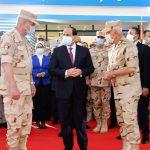 الرئيس عبد الفتاح السيسي يتفقد مستشفي القوات المسلحة للعزل الصحي بأرض المعارض