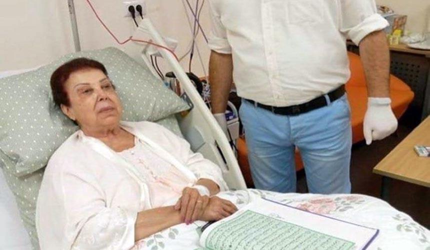الفنانة رجاء الجداوي في مستشفي عزل مصابي فيروس كورونا بالإسماعيلية