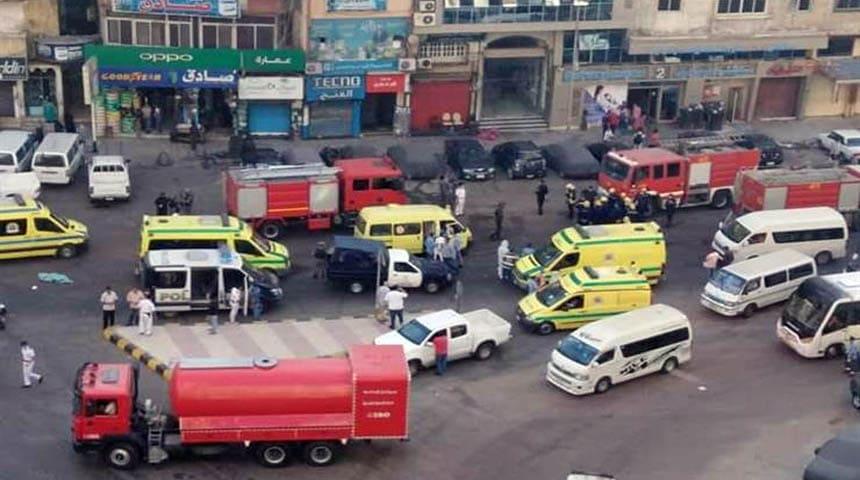 حريق مستشفي في الاسكندرية