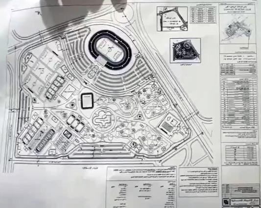 مخطط ارض نادي الزمالك في مدينة 6 اكتوبر