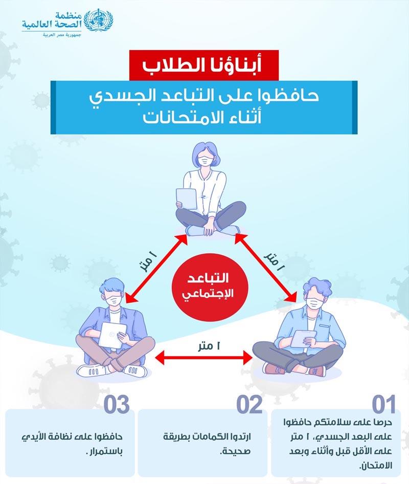 نصائح منظمة الصحة العالمية لطلاب الثانونية العامة