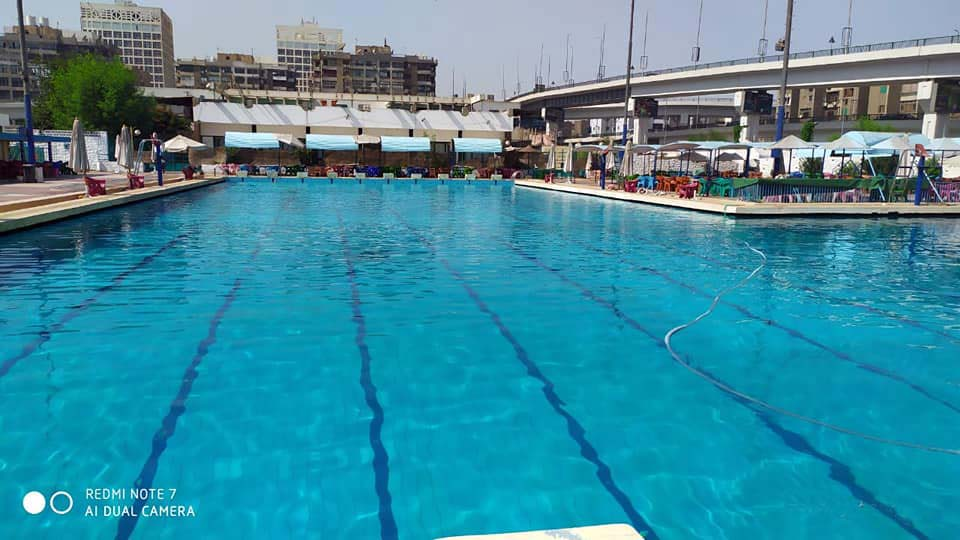 حمام السباحة الاولمبي بنادي السكة الحديد