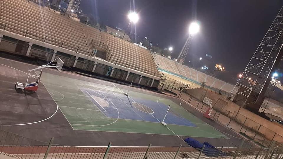 ملعب كرة السلة واليد والطائرة بنادي السكة الحديد