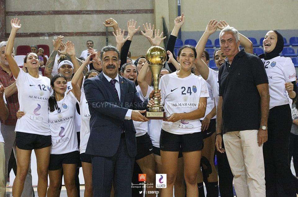 تتويج فريق نادى هليوبوليس بكأس مصر لكرة السلة سيدات 2020