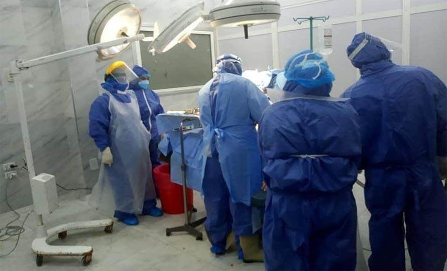 عملية ولادة منيرة محمد محمود، إخصائية التمريض بقسم عناية القلب بمستشفى دكرنس العام