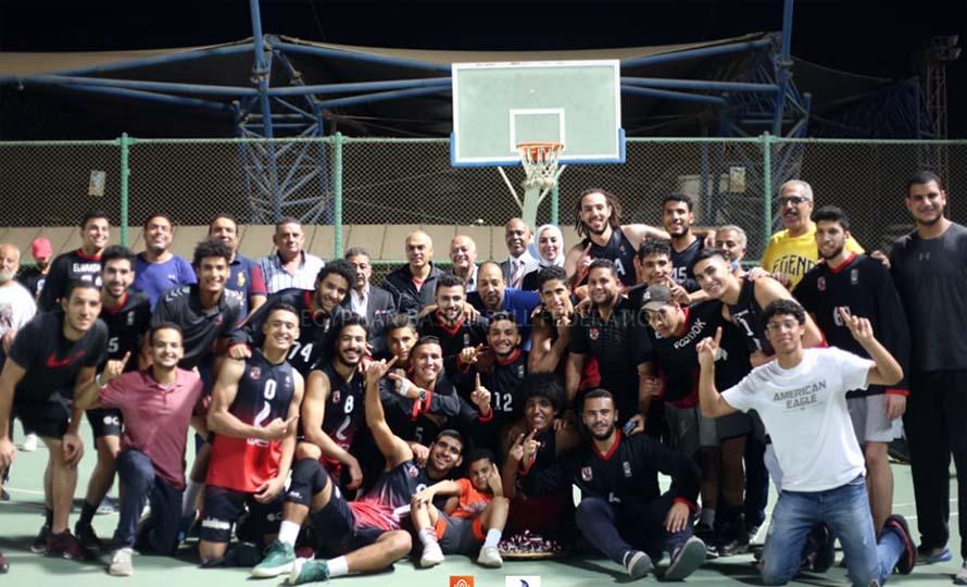 فريق كرة السلة بالنادي الأهلي للناشئين تحت 20 سنة