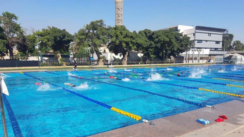 مدارس السباحة فى مركز شباب الجزيرة