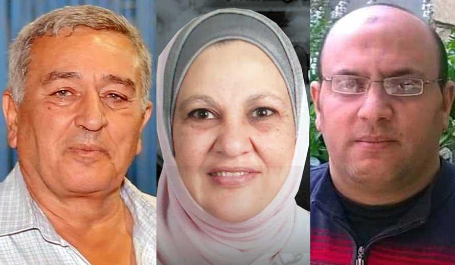 الدكتور ضياء العطفي والدكتورة ليلي زيادة والدكتور محمد دياب
