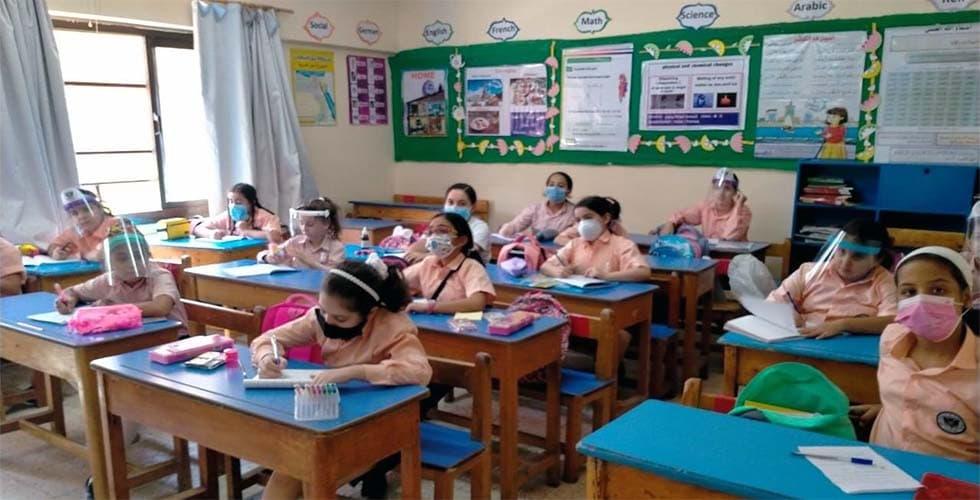 احد فصول مدرسة الرواد للغات مدينة نصر