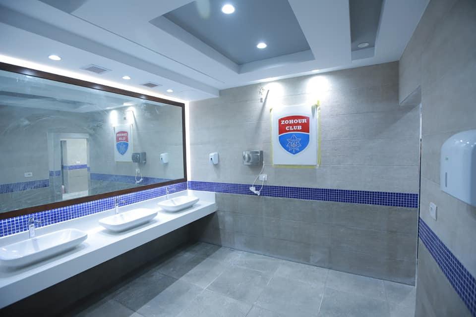 الحمامات اسفل الحمام الاوليمبي