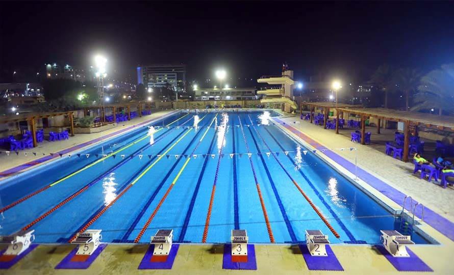 حمام سباحة نادى الزهور الأوليمبي بمدينة نصر