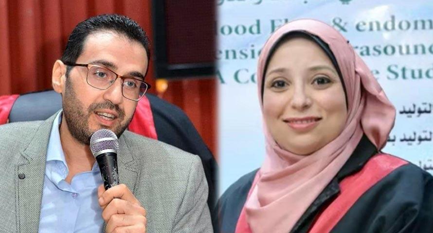 الدكتورة رغدة الدخاخني، والدكتور أحمد الحلوجي، أساتذة أمراض النساء والتوليد بكلية الطب بجامعة طنطا