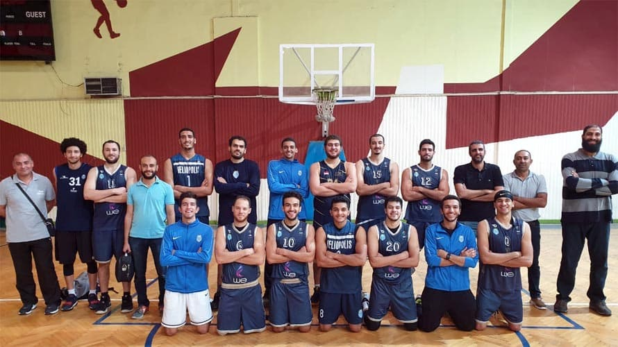 الفريق الأول لكرة السلة بنادي هليوبوليس