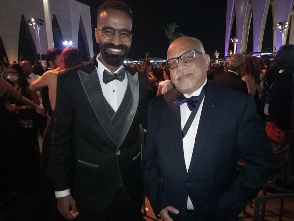 الناقد السينمائي مجدي الطيب مع الممثل محمود الليثي
