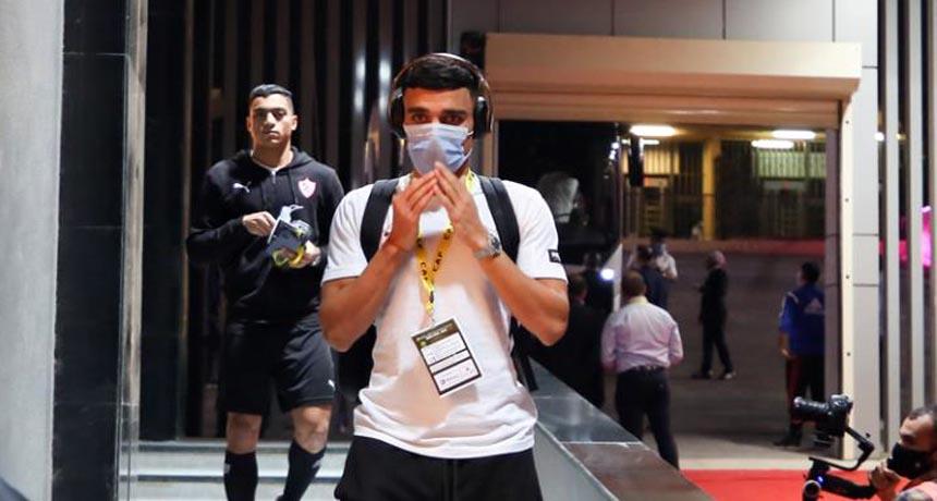 لاعب الزمالك المغربي أشرف بنشرقي