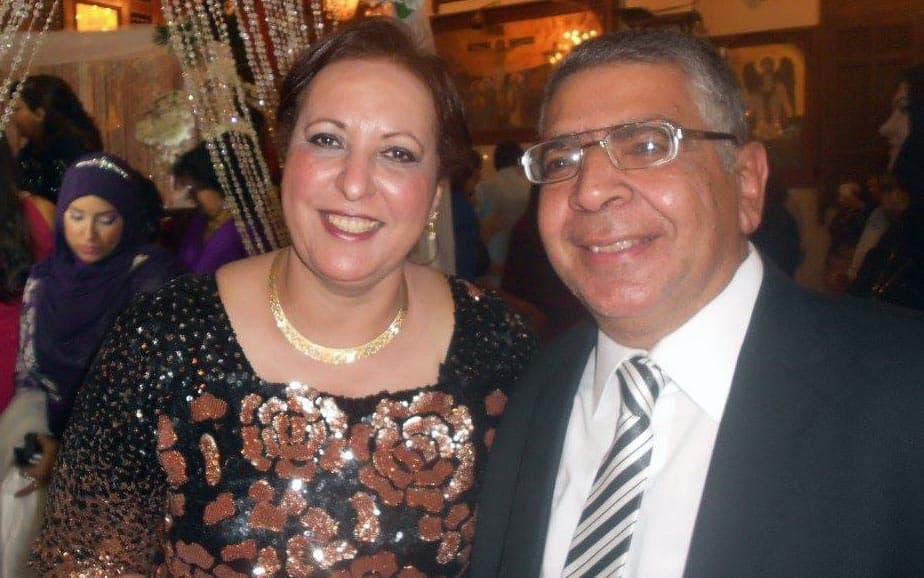 الدكتور ماجد ميخائيل وزوجته