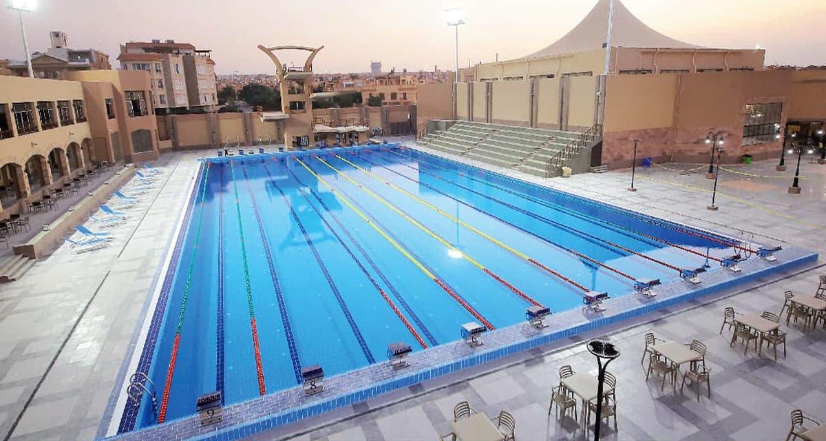 حمام السباحة الأوليمبي الجديد بنادي الزهور فرع التجمع الخامس