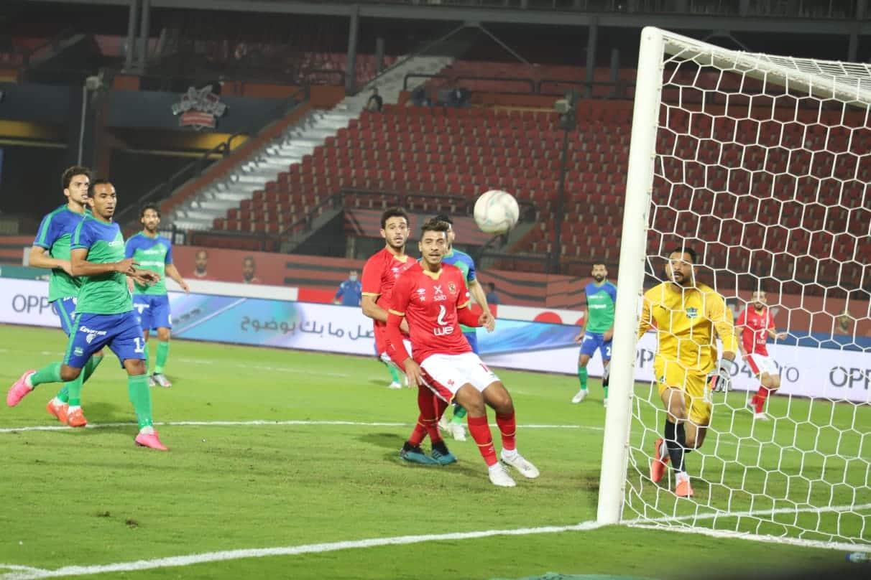 مباراة الاهلي ومصر المقاصة في الجولة الاولي من الدوري الممتاز