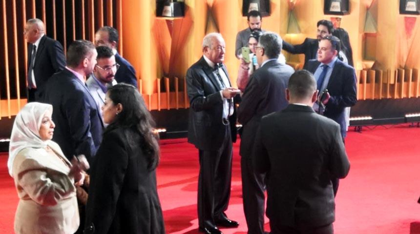 نجيب ساويرس في افتتاح مهرجان القاهرة السينمائي الدورة 42