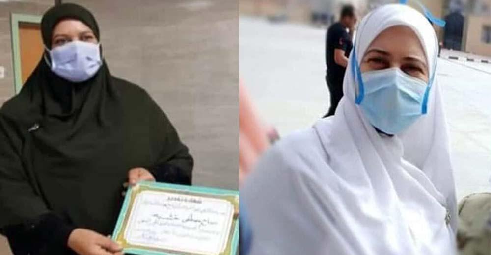 صباح ابو خشبه رئيسة تمريض مستشفي بلطيم المركزي للعزل