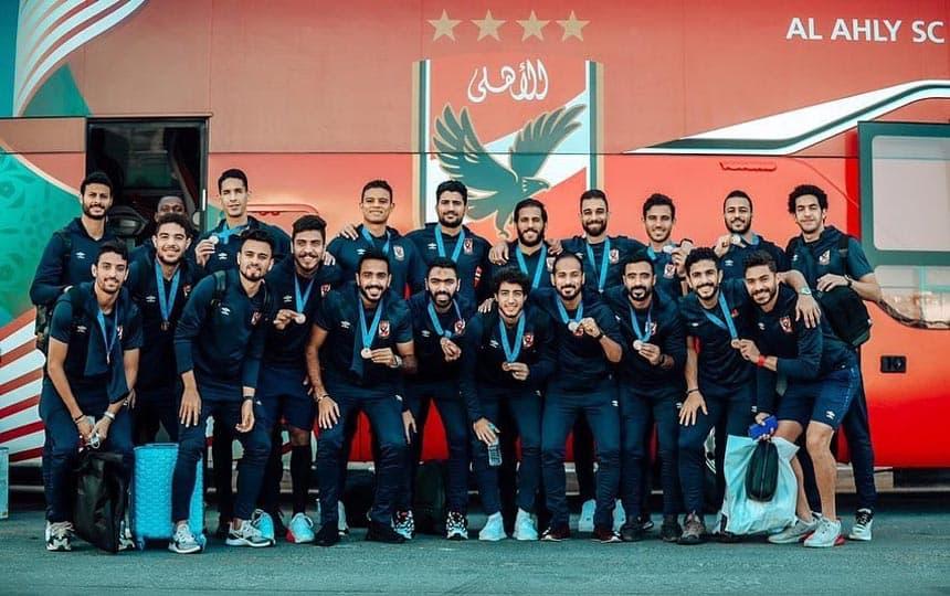 بعثة الاهلي في قطر بعد تحقيق برونزية كأس العالم 2020