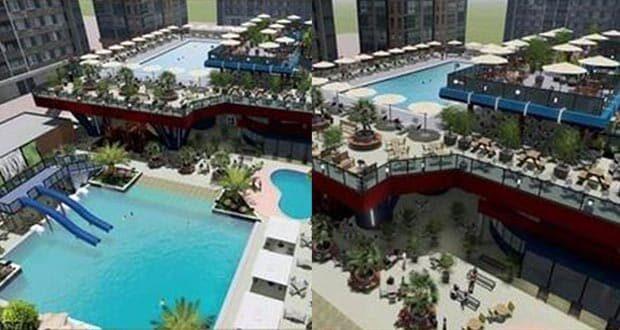 تصميم حمام السباحة الجديد