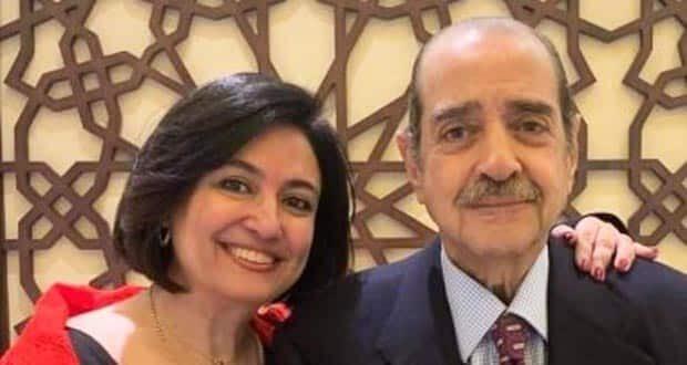 فريد الديب وابنته الدكتورة إيمان