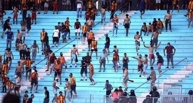 شغب جماهير مباراة الاهلي والترجي في تونس