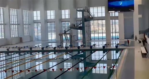 مجمع حمامات السباحة بالمدينة الرياضية بالعاصمة الادارية